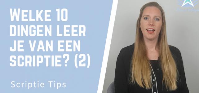Welke 10 dingen leer je van je scriptie? Deel 2